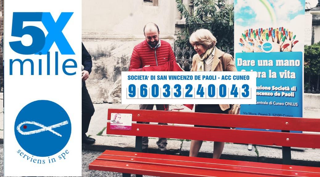 dona il 5x1000 alla San Vincenzo di Cuneo